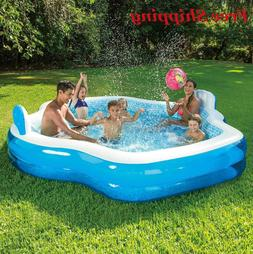 Summer Waves Inflatable Family Pool with Mosaic Interior Pri