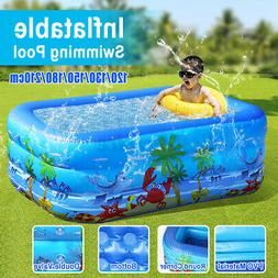 Inflatable Family Swimming Pool Outdoor Backyard Pool Inflat