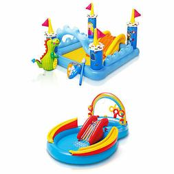 Intex Inflatable Fantasy Castle & Rainbow Ring Water Play Sw