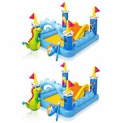 Intex Inflatable Fantasy Castle Water Play Swimming Pool for