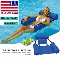 inflatable foldable floating bed float chair beach