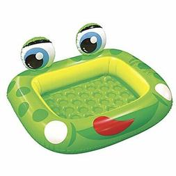 "Jilong Inflatable Frog Baby Pool for Ages 1-3, 50"" x 43"" x 8"