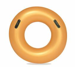 Bestway Inflatable Gold Swim Ring Float Swimming Pool Lounge