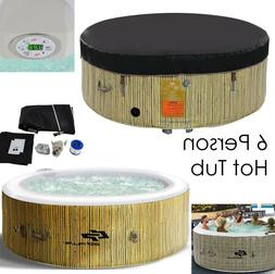 Inflatable Hot Tub 6 Person Portable Spa Hottub Pool Outdoor