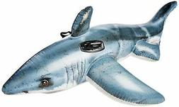 inflatable jaws white shark play float swimming