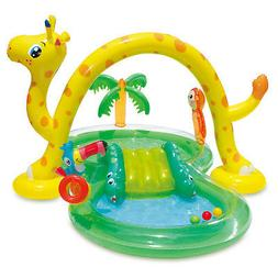 Summer Waves Inflatable Jungle Animal Kiddie Swimming Pool P