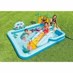 Inflatable Jungle Play Center Pool With Slide Spray Wading P