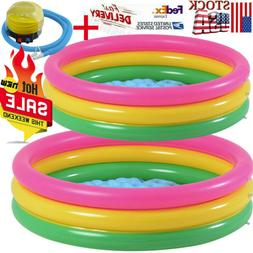 Inflatable Kiddie Pool Ball Pool+Foot pump Family Kids Water