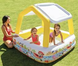 inflatable kids pool with removable sun shade