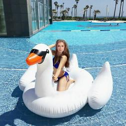 Inflatable Leisure Giant Swan Float Toy Rideable Raft Swimmi