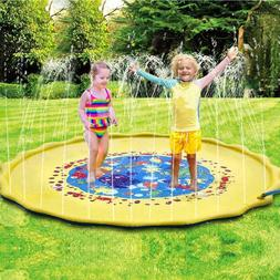 inflatable outdoor sprinkler pad and splash play