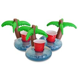 GoFloats Inflatable Palm Island Drink Holder , Float your dr