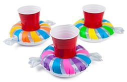 BigMouth Inc. Inflatable Penny Candy Pool Cupholder Floats,