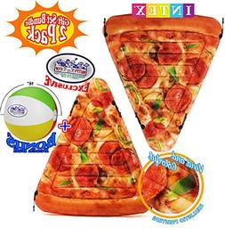 Matty's Toy Stop Inflatable Pizza Slice Pool Mat with Realis