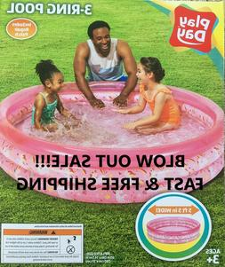 Inflatable Playday 5.5ft Round Pool Colors Blue or Pink, Kid