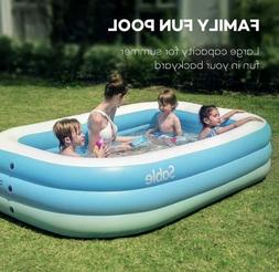 Sable Inflatable Pool Blow Swimming Pool for Family Party Wa