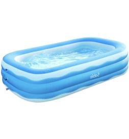 Sable Inflatable Pool, Blow up Kiddie Pool for Family, 95 x