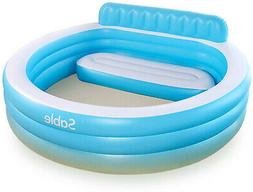 Sable Inflatable Pool, Blow Up Swimming Pool, for Family Par