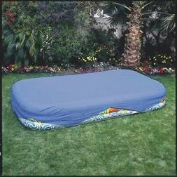 Inflatable Pool Cover Outdoor Rectangular Safety Cover for 1