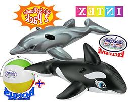 Intex Inflatable Pool Floats Dolphin Ride-On  & Whale Ride-O