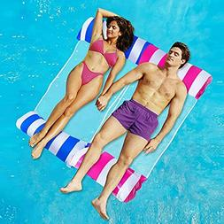 Inflatable Pool Floats for Adults 2 Packs Portable Water Ham