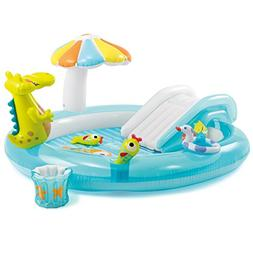Inflatable Pool w/ Slide Toys Kid Baby Intex Water Fun Swim
