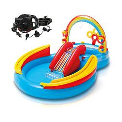 Intex Inflatable Pool Water Play Rainbow Ring Center Slide w