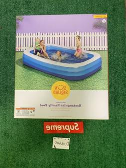 Sun Squad Inflatable Rectangular Family Pool 10' x 6' x 22""