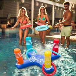 Inflatable Ring Toss Pool Game Toys Floating Swimming Pool R
