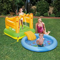 Summer Waves Inflatable Sand Castle Play Center with Sprayer