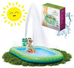 Inflatable Sprinkler Pool Water Park for Kids Toddlers Swimm