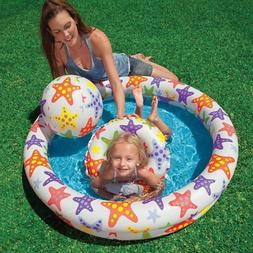 48 X 10 Inflatable Stars Kiddie 2 Ring Circles Swimming Pool
