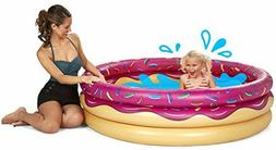 BigMouth Inc Inflatable Strawberry Donut Kiddie Pool Durable