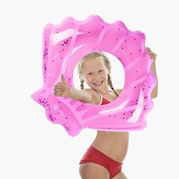 Mocoosy Inflatable Swimming Inner Tube Raft with Seashell/Me