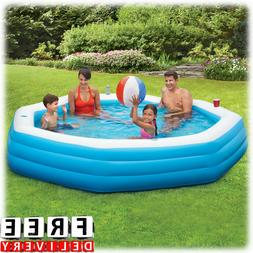 inflatable swimming pool 9 family kid adult