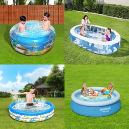 inflatable swimming pool center lounge family kids