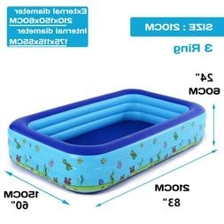 Inflatable Swimming Pool Floaties for Kid & Adult Family Sum