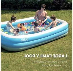 Sable Inflatable Swimming Pool, Giant Family Rectangular For