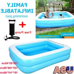 Inflatable Swimming Pool Lounge Family Summer Outdoor Play G