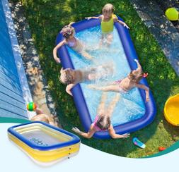 Sable Inflatable Swimming Pool, Giant Family Swim Rectangula