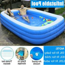 Inflatable Swimming Pools For Adult Kids Family Pool 10Ft Ho