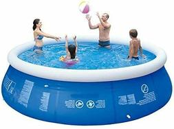 Inflatable Top Ring Swimming Pools Outdoor Garden Blue