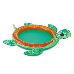 inflatable turtle baby pool with water sprayer