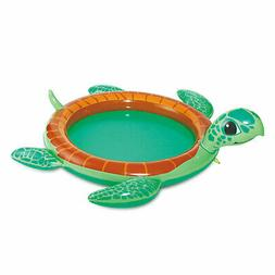 Summer Waves Inflatable Turtle Baby Pool with Water Sprayer