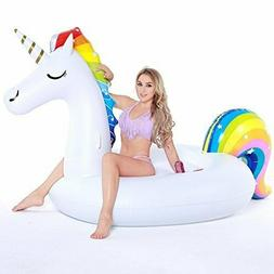 Inflatable Unicorn Pool Float, Funny Pool Party Toys for Adu
