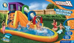 Inflatable Water Park Slide Giant Splash Pool Swimming Summe