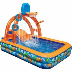 inflatable water park slide pool backyard bounce