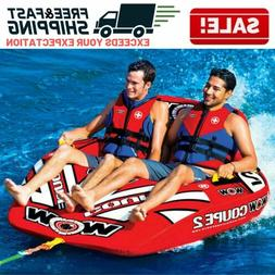 Inflatable Water Sports Boat Tow Tube Water Tubing Towables