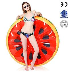 jaaytct Inflatable Watermelon Pool Float, Funny Pool Summer