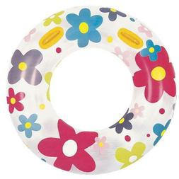 Inflatable White and Pink Fashion Flower Print Swimming Pool